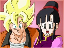Goku and ChiChi: recolored by carapau