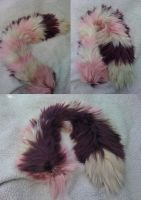 Quten's  Pink and Tan Yarn Tail by Iceshadow86