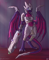 Armored Cynder by floravola