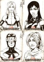 Marvel Beginnings Series III sketch cards 3 by mechangel2002