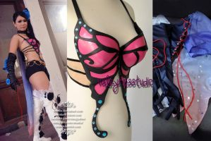 Zafina Bra and Wings Costume by oruntia