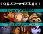 Sokka and Suki: Warriors by freedomfighter12
