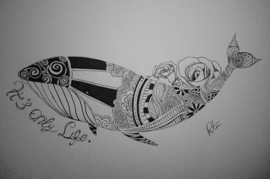 whale tattoo design by rotemg20