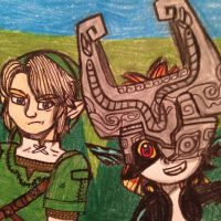 Link and Midna by creativetomboy