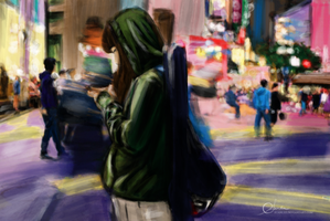 Girl in Street by suanlee