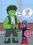 American Soldier and Lil' Hulk by MCsaurus