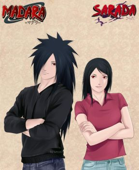 Sarada and Madara by Lesya7