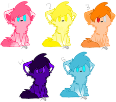 Moar kitty adoptables (All Taken) by ghostiibear