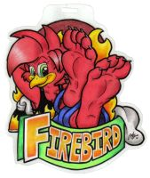 Firebird Paw Badge by SketchDalmatian
