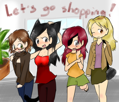 My Shiksas Go Shopping c: by MasterSergeantFuery