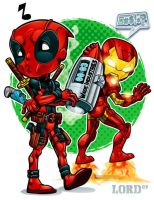 Lil Deadpool 'n' Shellhead by lordmesa