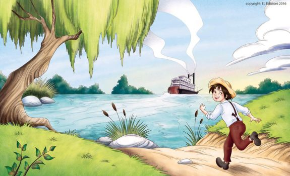 Huckleberry Finn cover by roby-boh