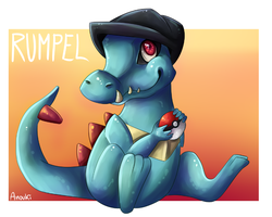 Rumpel the Totodile by anouki-morgenstern