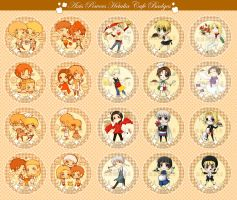 Hetalia Cafe buttons by AlexiusSana