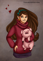 Mabel and Waddles by 7Lisa