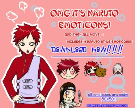 NOV+DEC NARUTO EMOTICONS by starizzy