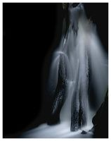 midnight waterfall by mzkate