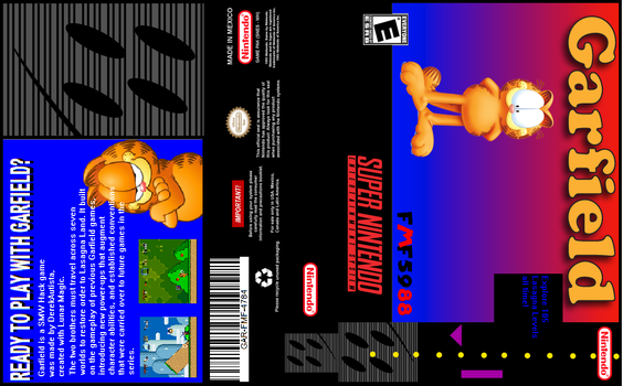 Garfield (SMW Hack) SNES Cover by DerekAutistaFMF5988