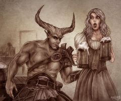 Dragon Age Inquisition, Iron Bull by Agregor