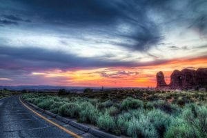Sunset over Arches by TPextonPhotography