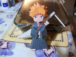 Ichigo Kurosaki Paper Craft 1 by The-Art-Godess