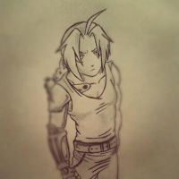 My drawing of Edward Elric by kirof