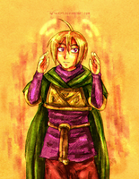 Golden Sun - Wind Pilgrim Ivan by neshirys