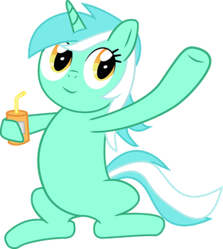 Lyra with something to drink by Gecko-7
