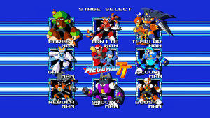 Mega Man TT Stage Select Wallpaper by JusteDesserts