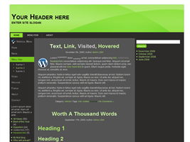 WP Theme MP1 by wastematerials