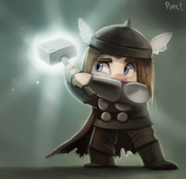 DAY 195. Thor (30 Minutes) by Cryptid-Creations