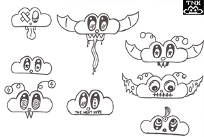 Cloud Monster Doodles by TNH-Ed-Hill