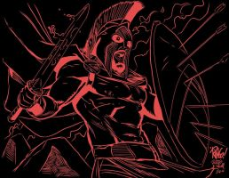 300 Ringo BLACK n RED INKS Me by JamesLeeStone