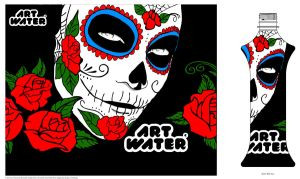 Muerte ArtWater by IllustratedEye