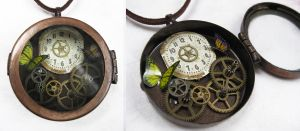 Steampunk Necklace - Locket by xxPRECIOUSMOMENTSxx