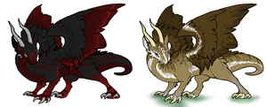 Dragons I closed by LunAdopts