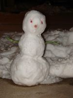 Happy Little Two-Eyed Snowman by FantasyStock