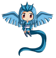 [Commission] Mini Chibi Articuno Gijinka by izka197