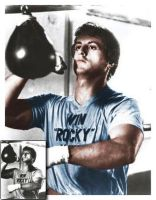 Rocky Balboa colored by tharealdon