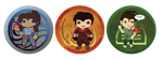 The Avatar Korra Gang Buttons by Soseiru