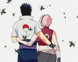 Sasuke and Sakura by lrslink