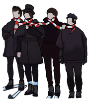 The Beatles: Epic Scarf by tattoartist9
