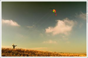 Man with kite by mjagiellicz