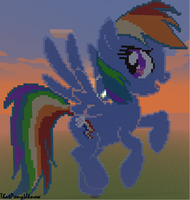 Rainbow Dash in sunrise (minecraft) by ThatPonyUknow