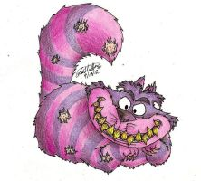 Creepy-ish Cheshire Cat by iiRawrDinosaurii