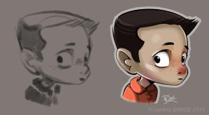 Young boy sketch by Dragibuz