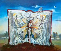 Book of Books. 30x35 oil, canvas (copy) by ElonaShelest
