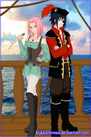 SasuSaku pirates by byBlackRose