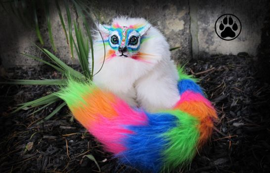 SOLD Tang the fruit tingle lemur poseable art doll by CreaturesofNat