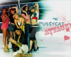PussyCat Attack_Wallpaper by GothicBrokenBabe